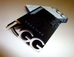 plastic- business cards